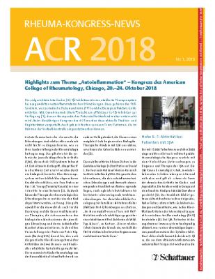 Kongressbericht vom ACR 2018_ arthritis + rheuma_Heft 1-2019_Dr-Beate-Grueble